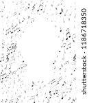 music notes symbols flying... | Shutterstock .eps vector #1186718350