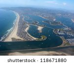 Aerial View Of San Diego Shore...