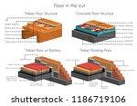 floor in cut timber and... | Shutterstock .eps vector #1186719106