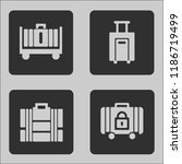 modern and trend luggage icons... | Shutterstock .eps vector #1186719499