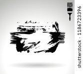 black brush stroke and texture. ... | Shutterstock .eps vector #1186723396