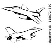 vector drawn fighter  isolated...   Shutterstock .eps vector #1186724560