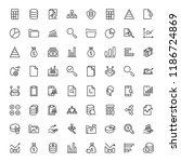 statistics icon set. collection ... | Shutterstock .eps vector #1186724869