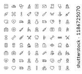 orthodontic icon set....   Shutterstock .eps vector #1186725070