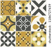 decorative tile pattern design. ... | Shutterstock .eps vector #1186727659