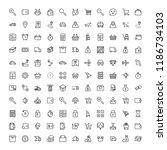 online store flat icon set.... | Shutterstock .eps vector #1186734103