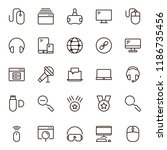 game icon set. collection of... | Shutterstock .eps vector #1186735456