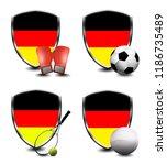 germany shield. sports items   Shutterstock . vector #1186735489