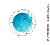 vector polygonal sphere | Shutterstock .eps vector #1186736380