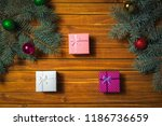 christmas decorations. holiday... | Shutterstock . vector #1186736659