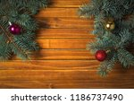 christmas decorations. holiday... | Shutterstock . vector #1186737490
