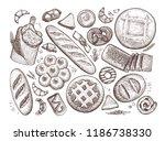 bread  baked goods sketch.... | Shutterstock .eps vector #1186738330