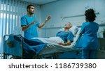 futuristic medical ward with...