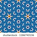 morocco seamless pattern.... | Shutterstock .eps vector #1186743136