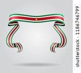 surinamese wavy flag abstract... | Shutterstock . vector #1186746799