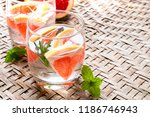 glasses of mojito with... | Shutterstock . vector #1186746943