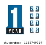anniversary vector icons set.... | Shutterstock .eps vector #1186749319