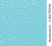 falling snow background. vector ... | Shutterstock .eps vector #1186750246