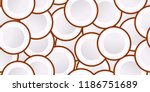 seamless coconut vector pattern.... | Shutterstock .eps vector #1186751689