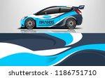 company car wrap. wrap design... | Shutterstock .eps vector #1186751710