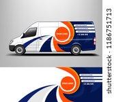 company car wrap. wrap design... | Shutterstock .eps vector #1186751713