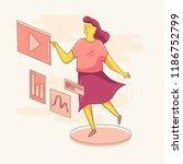 vector woman girl character... | Shutterstock .eps vector #1186752799