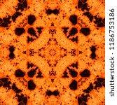 orange complex symmetrical... | Shutterstock . vector #1186753186