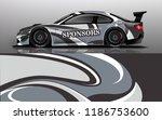 car wrap design vector  truck... | Shutterstock .eps vector #1186753600