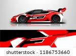 car wrap design vector  truck... | Shutterstock .eps vector #1186753660