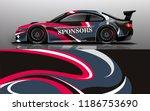 car wrap design vector  truck... | Shutterstock .eps vector #1186753690