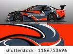 car wrap design vector  truck... | Shutterstock .eps vector #1186753696