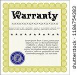 yellow vintage warranty... | Shutterstock .eps vector #1186754383