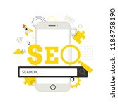 seo. search  concept.  modern... | Shutterstock .eps vector #1186758190