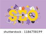 seo. search  concept.  modern...   Shutterstock .eps vector #1186758199