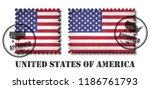 america or american flag... | Shutterstock .eps vector #1186761793