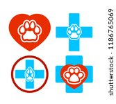 icon symbol of a veterinary... | Shutterstock .eps vector #1186765069