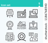 contains such icons as webcam ... | Shutterstock . vector #1186768540