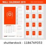 wall calendar planner template... | Shutterstock .eps vector #1186769353