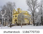 catholic church in the small... | Shutterstock . vector #1186770733