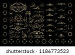 vintage set exclusive borders... | Shutterstock .eps vector #1186773523