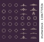retro rosette and victorian... | Shutterstock .eps vector #1186773526
