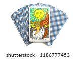deck of tarot cards   chainat... | Shutterstock . vector #1186777453