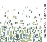 social network concept... | Shutterstock .eps vector #118677940