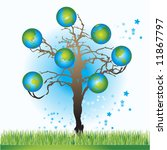 tree with globes  spring ...   Shutterstock .eps vector #11867797