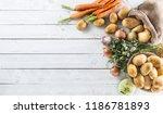 close up assortment of fresh... | Shutterstock . vector #1186781893