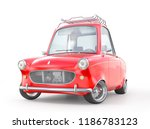 red retro car isolated on a... | Shutterstock . vector #1186783123