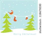 christmas birds | Shutterstock .eps vector #118678330