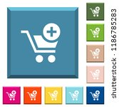 add item to cart white icons on ... | Shutterstock .eps vector #1186785283