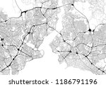 monochrome city map with road...   Shutterstock . vector #1186791196