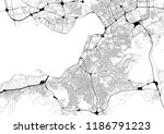 monochrome city map with road... | Shutterstock . vector #1186791223